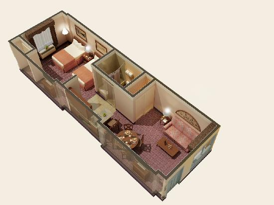 Quality Suites Royale Parc Suites: One Bedroom Suite layout
