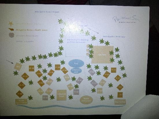 Paradise Sun : resort map