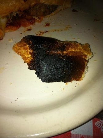 Michelena's Pizza & Italian Restaurant : The waitress only comment was I am sorry but it came out a little burned. No offer to take this