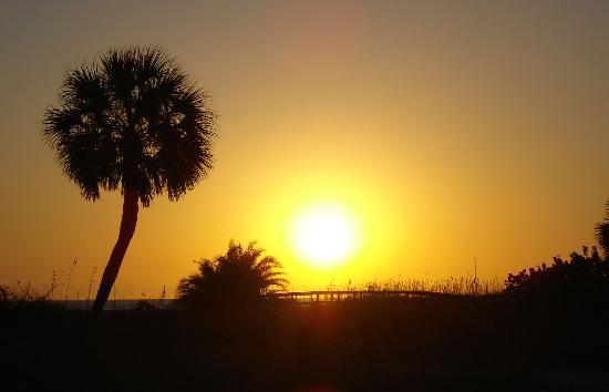 Swashbuckler Motel : Final sunset from the beach across the street.