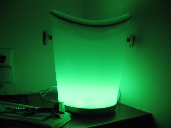 Hotel Blue: the infamous glowing ice bucket