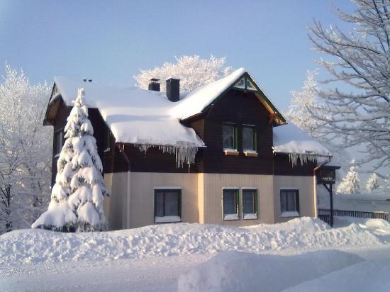 Pension Oberhof 810M: Aussenansicht Winter