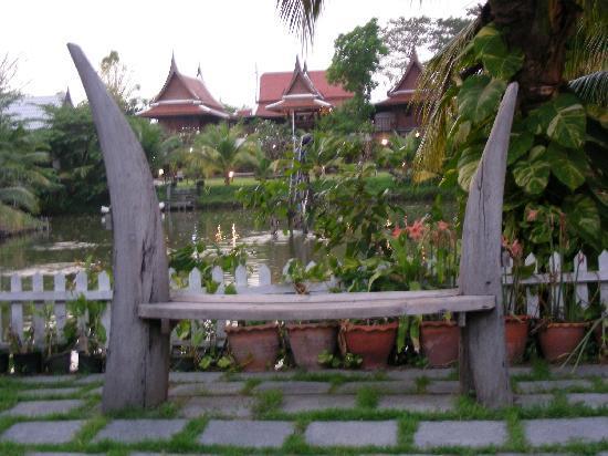 Vue de la piscine (sur le Baan Thai House)