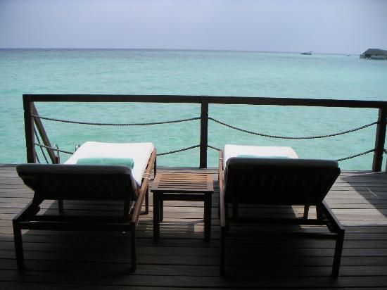 Four Seasons Resort Maldives at Landaa Giraavaru: Our sun beds