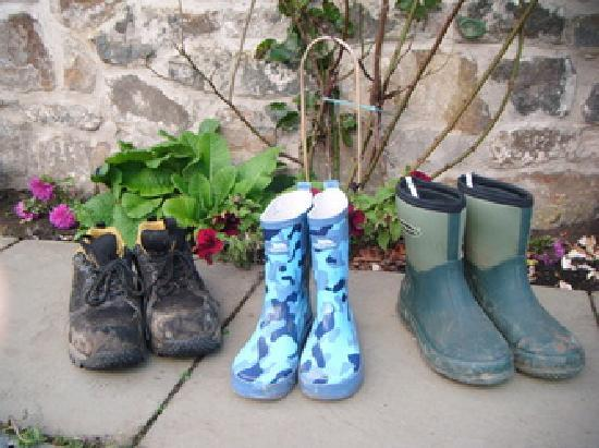 Williamscraig Holiday Cottages: Wellies