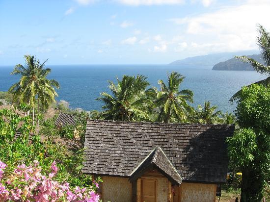 Hanakee Hiva Oa Pearl Lodge : vue sur la baie