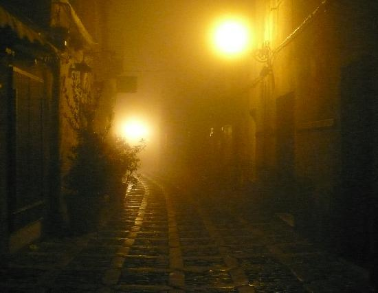 Erice, Foggy night
