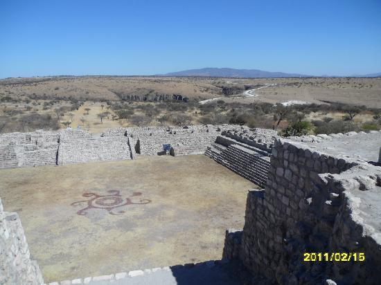 Cañada de La Virgen: Top view from the pyramid