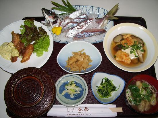 Business Minshuku Charm: 夕食の一例