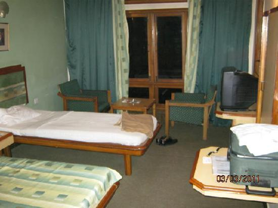 Room no. 207, Hotel Polo Towers Shillong, very basic, more like a hostel room