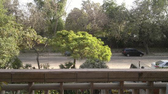 Jorbagh BnB: view from window to the street