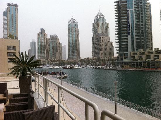 Dusit Residence Dubai Marina: view from the restaurant
