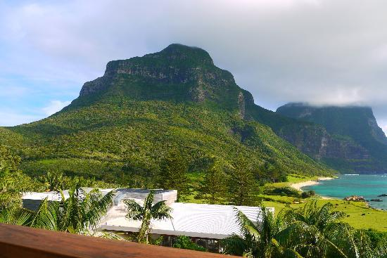 Lord Howe Island, Australia: View from our upstairs balcony