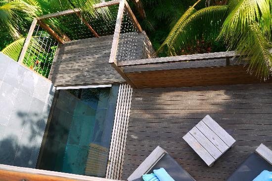 Capella Lodge: looking down on deck with pool