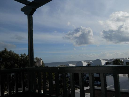 Molino de Guatiza Apartments: view from our balcony to the sea
