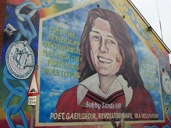 Peace wall picture of paddy campbell 39 s belfast famous for Bobby sands mural