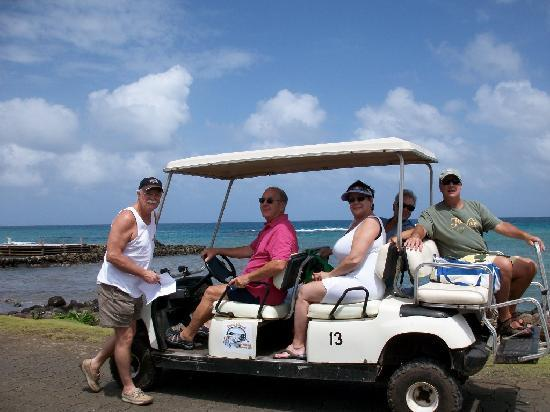 Casa Canada: Rent a golf cart and tour the island