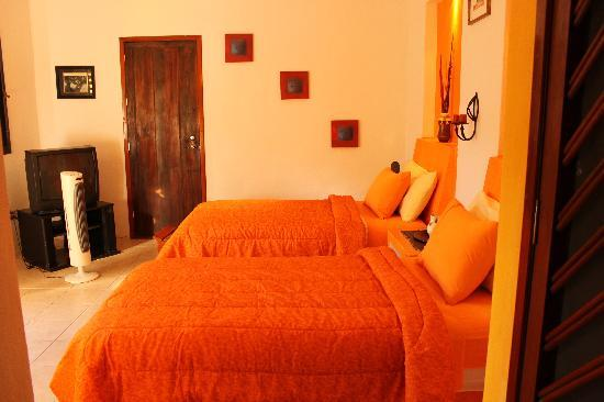 Twin bedroom at Casita de maya