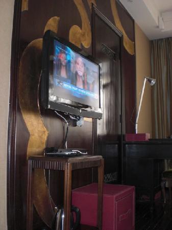 Kejiantang Boutique Hotel: TV and closet