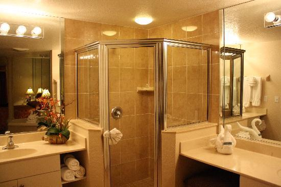 Mystic Dunes Resort & Golf Club: His and her sinks in master.