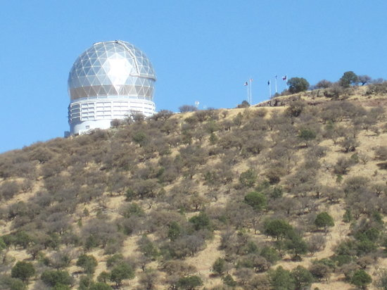 Fort Davis, TX: View of the building that houses the Hobby-Eberly telescope.