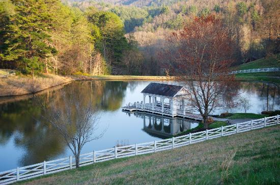 Walland, TN: the lake below the mainhouse