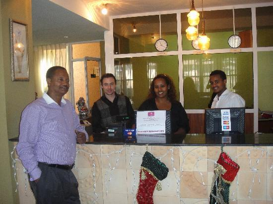 Addis Regency Hotel: My personal pic of the Addis Regency Team!