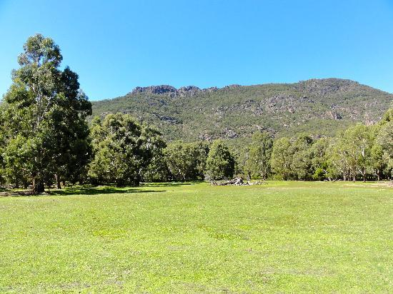Halls Gap Log Cabins: View from the back of your cabin