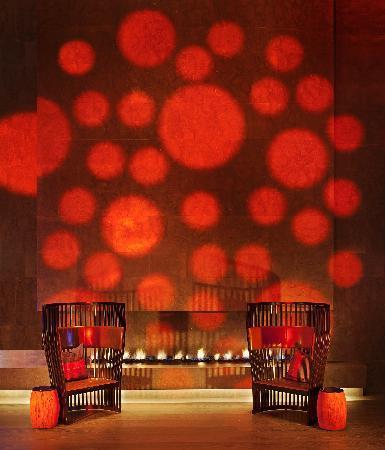 W Taipei: WOOBAR fireplace