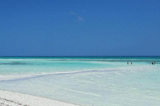 Banana Bay: 潮が引いてくると砂州が現れてきます。