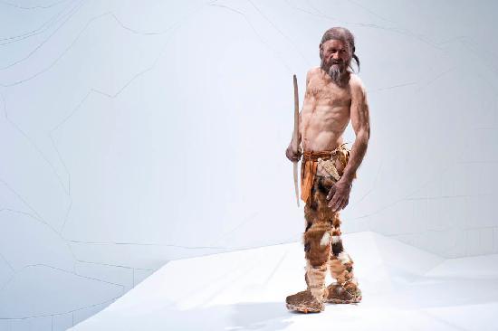 """Museo arqueológico de Tirol del sur: Lebensechte Rekonstruktion des """"Mannes aus dem Eis"""" (Foto:www.foto-dpi.com)"""