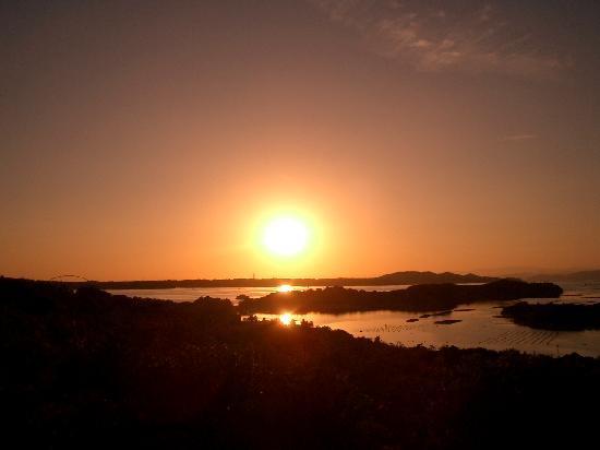 Tomoyama Park : 沈む夕陽