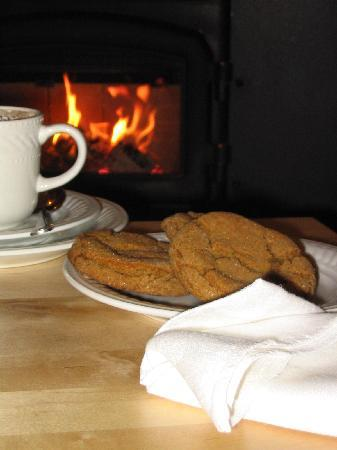 ‪‪B&B Vert Le Mont‬: In the winter we serve hot chocolate and cookies in the parlour by the fire‬