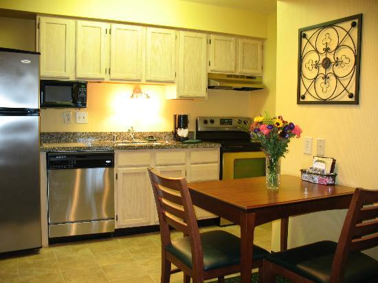 Brookfield, WI: Full kitchens with refrigerator/freezer/ice maker, stove/range, microwave, dishwasher, flatware