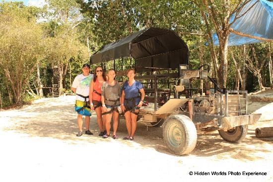 Hidden Worlds Family Cenote Park: Your Limo into the jungle