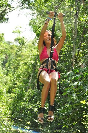 Hidden Worlds Family Cenote Park: Zip lines in the Jungle