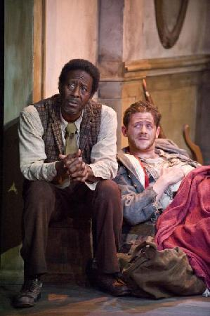 "Barrington Stage Company: Clarke Peters and Nick Westrate in ""The Whipping Man"" (Photo by Kevin Sprague, 2010)"