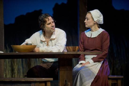 "Barrington Stage Company: Christopher Innvar and Kim Stauffer in ""The Crucible"" (Photo by Kevin Sprague, 2010)"