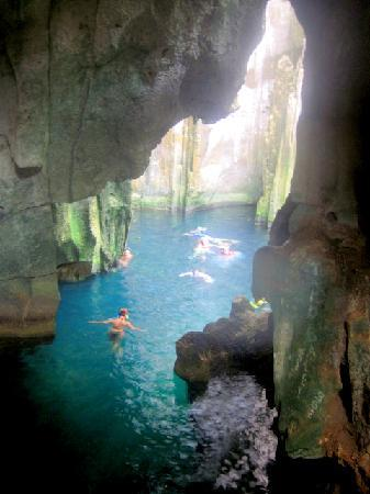 Visit the famous limestone caves - Picture of Blue Lagoon ...