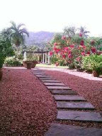 Tamarind Great House: garden area