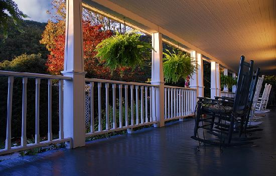 Lovill House Inn - Bed and Breakfast: Find your spot & rocker on the porch!
