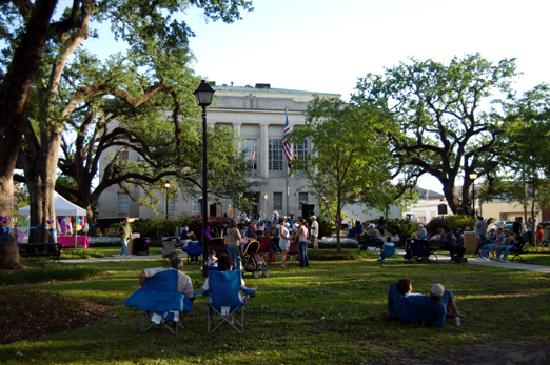Downtown Live After 5 is a free concert at Houma's Courthouse Square. The event is held on the l