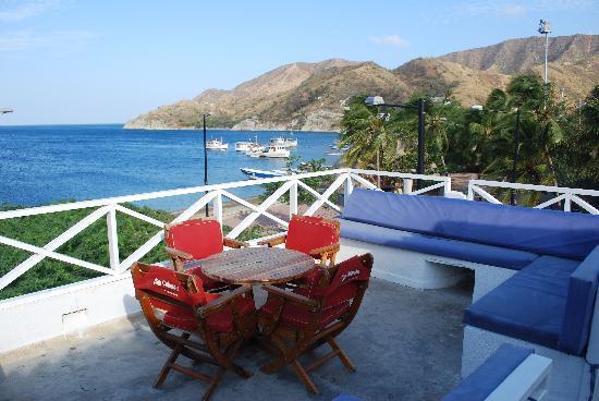 La Ballena Azul Hotel: Deck