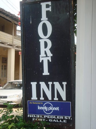 Fort Inn Guest House: sign board