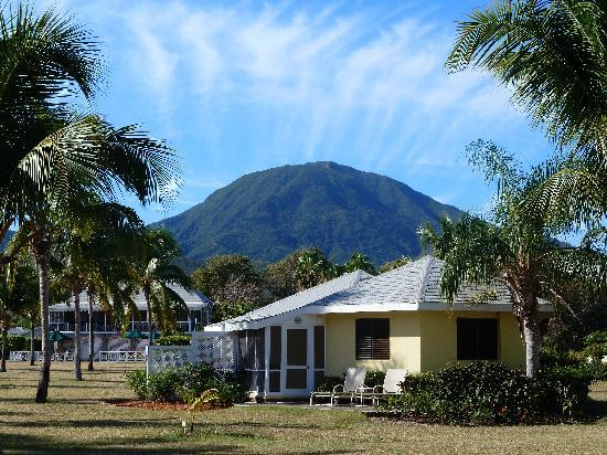 Nisbet Plantation Beach Club: Nevis Peak from Nisbet Plantation