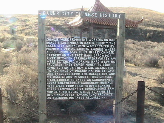 Baker City, OR: Reader Board telling history