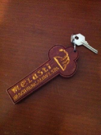 Melasti Kuta Bungalows and Spa: room key