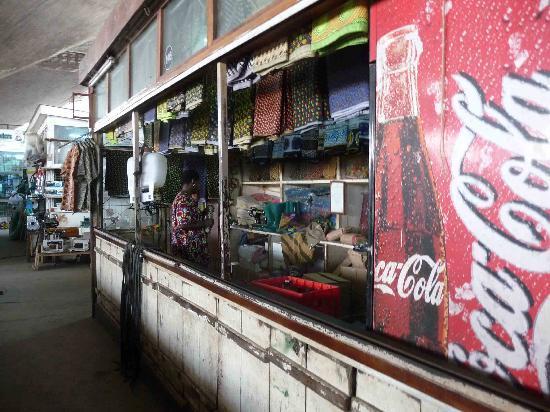 Kariakoo market fabric vendor