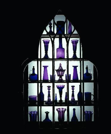 Beauport, the Sleeper-McCann House: Amythest glass window