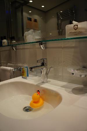Lugano Dante Center Swiss Quality Hotel: Free duck to take home